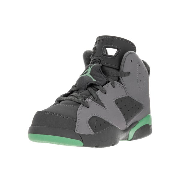 sports shoes 8a428 be69a Nike Jordan Kids  x27  Jordan 6 Retro Cement Grey, Green Glow, and