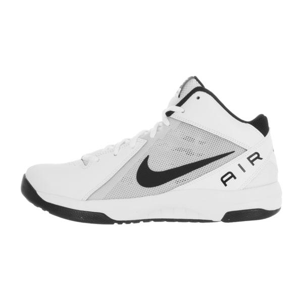 Shop Nike Men's The Air Overplay IX WhiteBlackPure