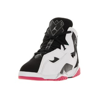 Nike Jordan Kids Jordan True Flight Gp White/Metallic Silver/Black/Vivid Pink Basketball Shoes
