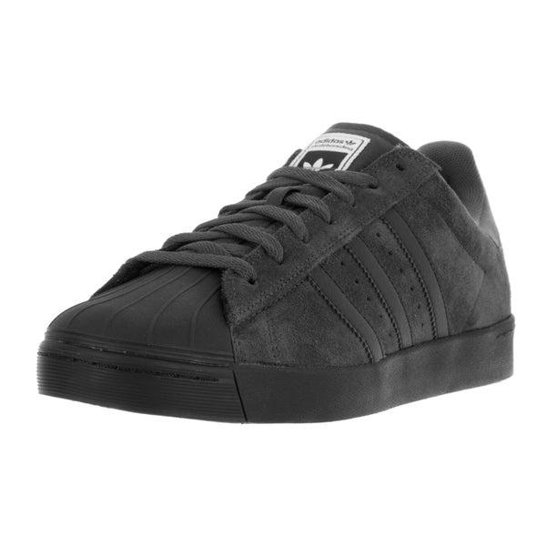 Shop Adidas Men's Superstar Black Suede