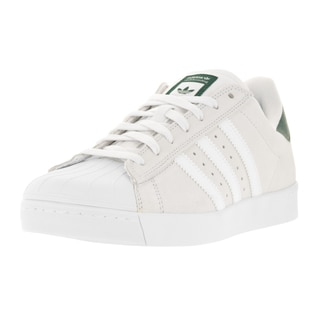 Adidas Men's Superstar Vulc Adv White Suede Casual Shoe