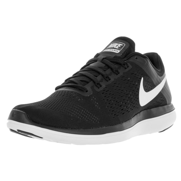 Shop Nike Men s Flex 2016 Rn Black White Cool Grey Running Shoe ... 9dafd923ebeb6