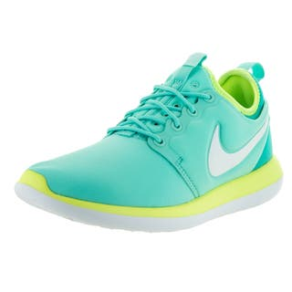 Nike Kids Roshe Two (GS) Hyper Turquoise/Metallic Summit White/Volt Running Shoes|https://ak1.ostkcdn.com/images/products/13394668/P20091455.jpg?impolicy=medium
