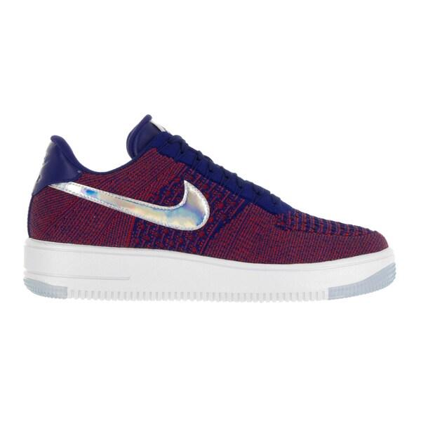Shop Nike Men's AF1 Ultra Flyknit Low Prm Gym RedDeep Royal