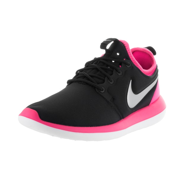 timeless design 6493e 8bcd9 ... Shoes     Athletic. Nike Kids  x27  Roshe Two (GS) Black, Platinum, and  Pink