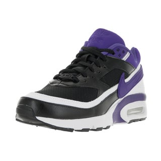 Nike Kids' Air Max BW Black, Persian Violet, and White Mesh Running Shoes