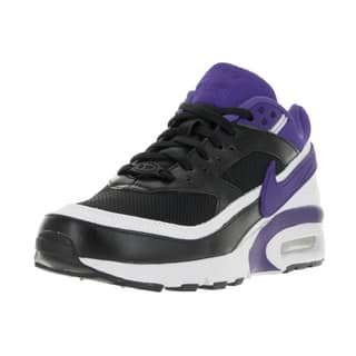 Nike Kids' Air Max BW Black, Persian Violet, and White Mesh Running Shoes|https://ak1.ostkcdn.com/images/products/13394672/P20091459.jpg?impolicy=medium