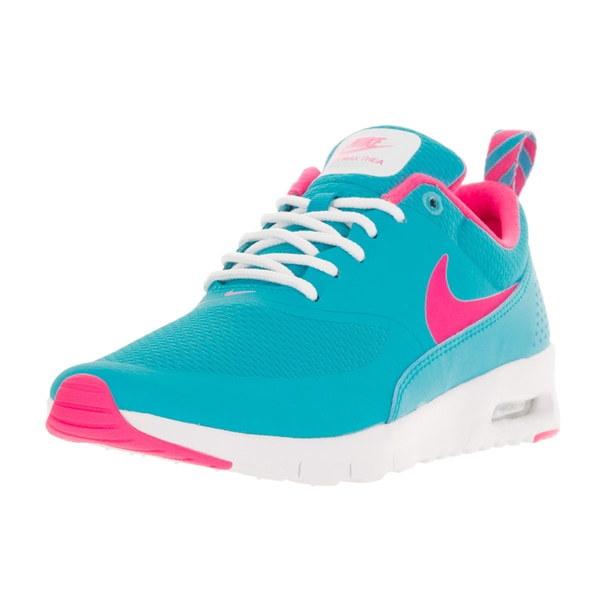 5a9f62181b57d Shop Nike Kids Air Max Thea (GS) Gamma Blue Pink Blast White Running ...