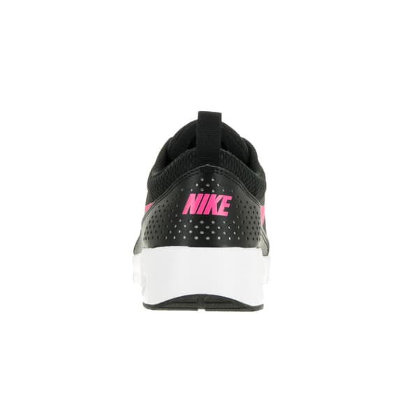 entire collection cheap for sale shop best sellers Nike Kids' Air Max Thea Black, Hyper Pink, and White Mesh Running Shoes