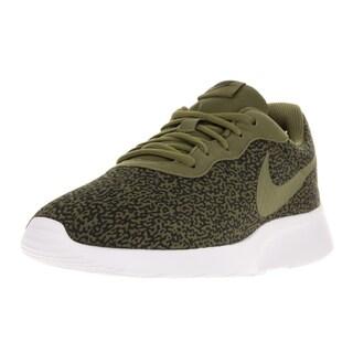 Nike Men's Tanjun Print Olive Flak/Olv Flak/Blk/White Running Shoe