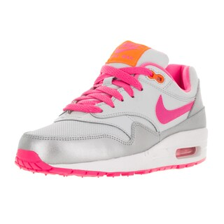 Nike Kids Air Max 1 (GS) Pr Pltnm/Pnk Pw/Brght Ctrs/Whi Running Shoe