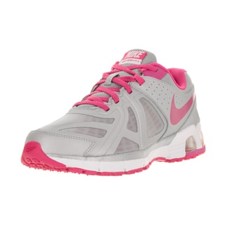 Nike Kids' Air Max Run Lite 5 (GS) Grey, Pink, and White Mesh Running Shoes