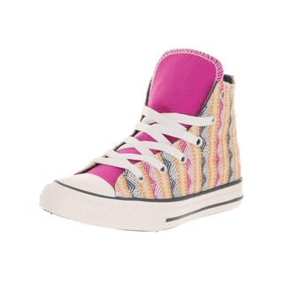Converse Kids' Chuck Taylor All Star Hi Plastic Plastic Pink Basketball Shoes