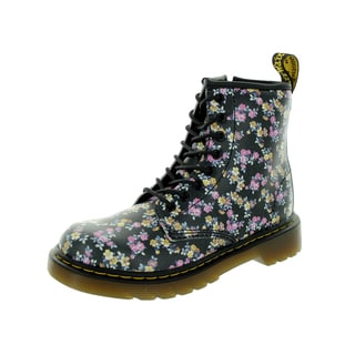 Dr. Martens Kid's Delaney Black/Multicolor Leather Mid-calf Boots