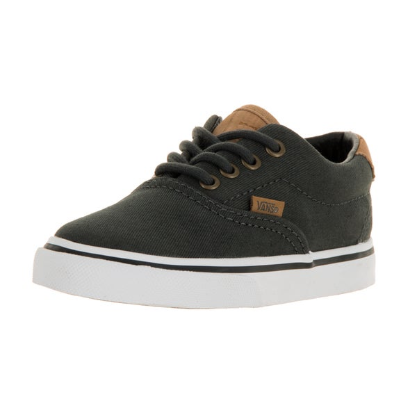 b65b42b83fb Shop Vans Toddlers  Era 59 Cork Twill Dark Grey Canvas Skate Shoe ...