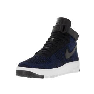 Nike Men's AF1 Ultra Flyknit Mid Game Royal/Black/White Basketball Shoe