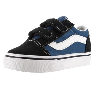 Vans Toddlers' Old Skool V Navy Suede Skate Shoes