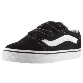Vans Toddlers' Old Skool V Black Suede Skate Shoes