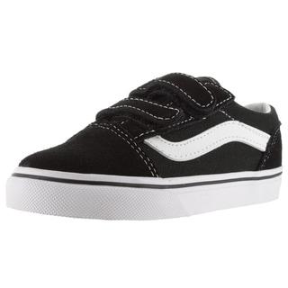 Vans Toddlers' Old Skool V Black Suede Skate Shoes