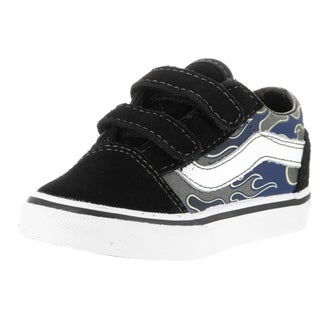 Vans Toddler Old Skool V Black Suede Skate Shoes