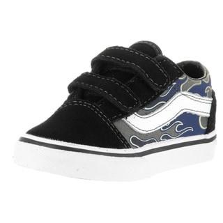 Vans Toddler Old Skool V Black Suede Skate Shoes