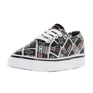 Vans Toddler's Authentic Nintendo Controller Black Canvas Skate Shoes