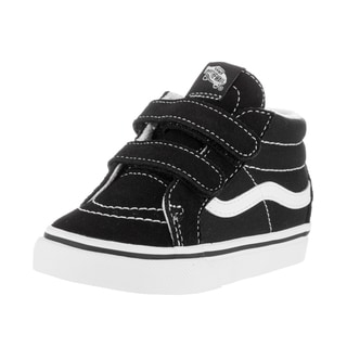 Vans Toddlers' Sk8-Mid Reissue V Black and White Suede Skate Shoes