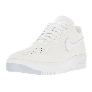 Nike Men's AF1 Ultra Flyknit Low White/White/Ice Basketball Shoe