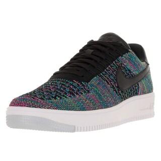 Nike Men's AF1 Ultra Flyknit Low Black/Bl Lgn Vltg Grn Pnk Blst Basketball Shoe