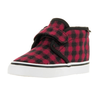 Vans Toddlers Chukka V Bk/RcnGr Twill and Gingham Skate Shoe