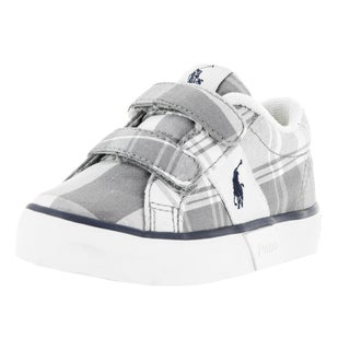 Polo Ralph Lauren Toddlers Giles Grey Plaid Fabric Casual Shoe