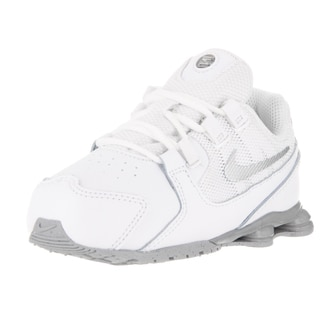 Nike Toddlers Shox Avenue (TD) White/Metallic Silver Running Shoes