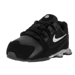 Nike Toddlers' Shox Avenue (TD) Black/Metallic Silver Nubuck Running Shoes