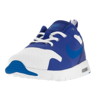 Nike Toddler's Air Max Tavas White/Royal Blue Plastic Running Shoes