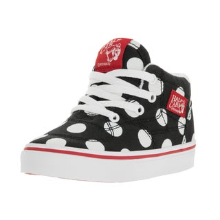 Vans Toddler's Half Cab Black Canvas Polka Dot Skate Shoe