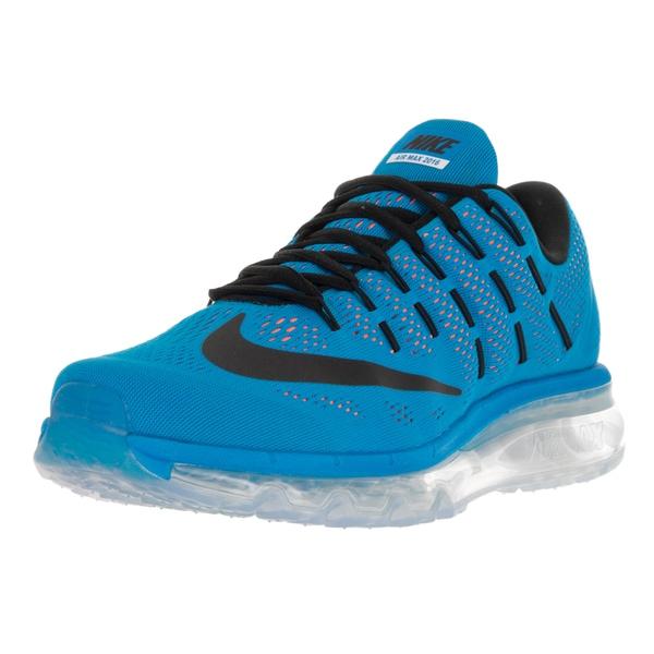sports shoes 50c3e c3a7d Nike Men  x27 s Air Max 2016 Photo Blue Black Total Orange Running