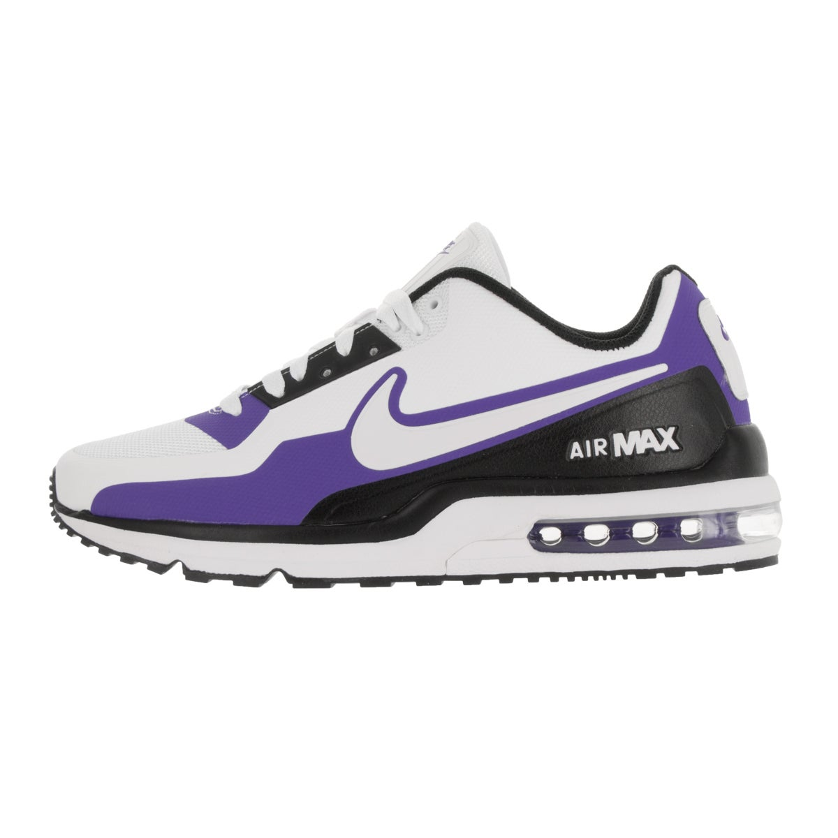 68389a51d8d Shop Nike Men s Air Max LTD 3 Mod White White Black Prsn Violet Running Shoe  - Free Shipping Today - Overstock - 13394861 - 8