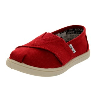 Toms Toddlers Tiny Classics Red Canvas Casual Shoe
