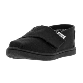 Toms Toddlers' Tiny Classic Black Canvas Casual Shoes