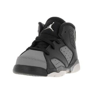 Nike Toddler's Jordan 6 Retro Black/White/Cool Grey Leather Basketball Shoes