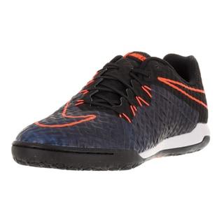 Nike Men's Hypervenomx Finale IC Black/Black Ttl Orange Rcr Bl Indoor Soccer Shoe