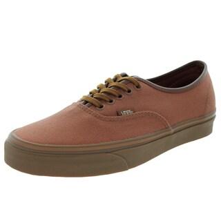Vans Unisex Authentic (10oz CandL) Brown/Gum Skate Shoe