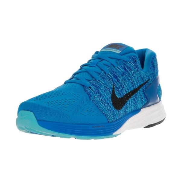 2394b7b524de Shop Nike Men s Lunarglide 7 Photo Blue Black Gmm Bl Cncrg Running ...