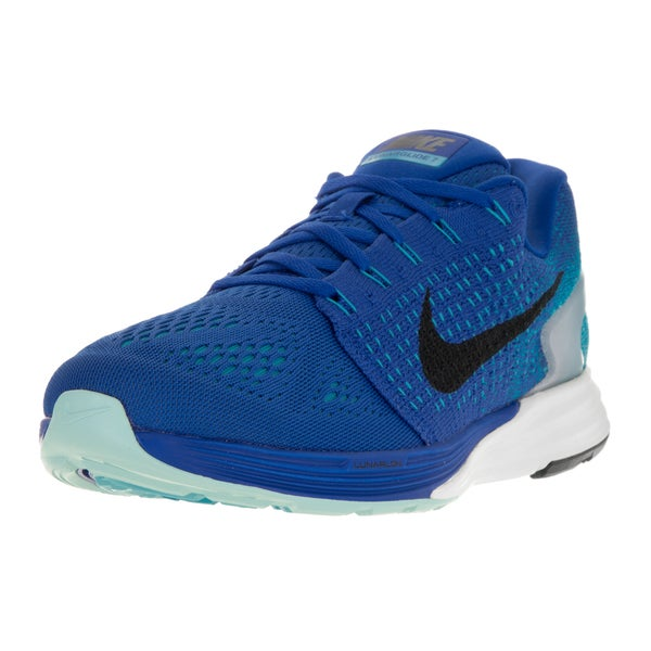 f577945bdf91 Shop Nike Men s Lunarglide 7 Game Royal Black Blue Lagoon Running ...