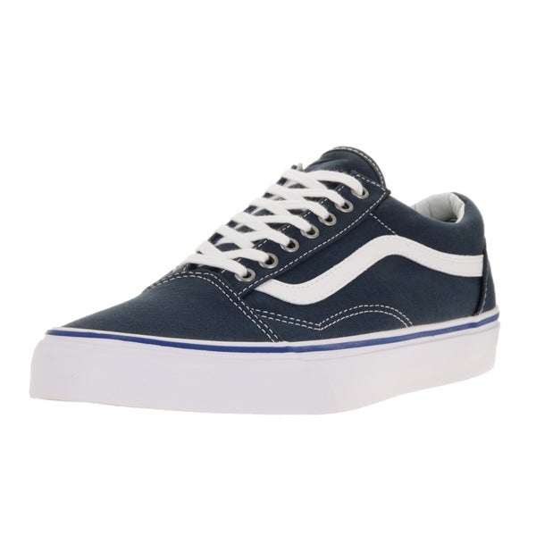 c9b310dc397c98 Shop Vans Unisex Old Skool Midnight Navy True White Skate Shoe ...