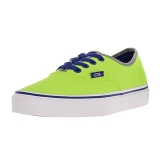 Vans Unisex Authentic (Brite) Neon Green/Blue Skate Shoe