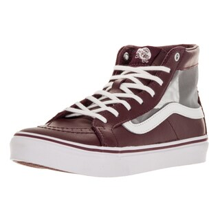 Vans Unisex Sk-8Hi Slim Cutout Red Leather Skate Shoe