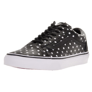 Vans Unisex Old Skool (Leather Polka Dots) Black Skate Shoe