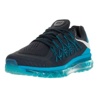 Nike Men's Air Max 2015 Blue and White Fabric Running Shoe