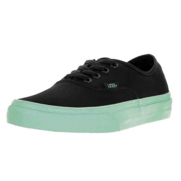 88d3690c0f Shop Vans Unisex Authentic (Pop Sole) Black/Outsole Skate Shoe ...
